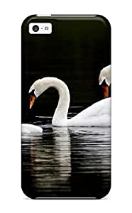 Excellent Iphone 5c Case Tpu Cover Back Skin Protector Swan Family