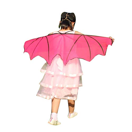 Child Kids Butterfly Wings Girls Bohemian Butterfly Print Shawl Unisex Children Pashmina Costume Accessory ICODOD(Hot Pink) -