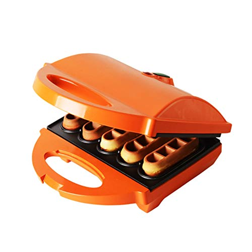 (Waffle maker, Muffin machine Oval waffle Household Double-sided heating Nonstick plates Mini Waffle irons-A 22.5x20x10cm(9x8x4inch))