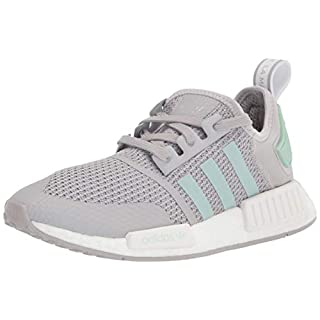 adidas Originals Men's NMD_R1 Sneaker, Grey/Blush Green/White, 4.5
