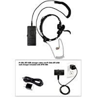 Pryme BTH-300-KIT6 BT with Gladiator Throat Microphone for Radios + Cell Phones