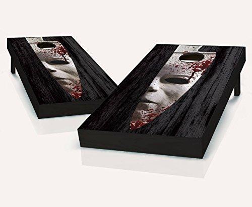 All Hallows Eve HALLOWEEN Cornhole Boards Regulation Size Game Set Baggo Bean Bag Toss + 8 ACA Regulation Bags]()