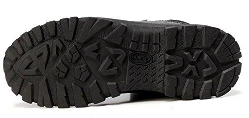 GLSHI Hombres al aire libre impermeable zapatillas de verano Super ligero de combate botas de camuflaje alto aumento al aire libre tactical botas hombres transpirables botas de desierto Black