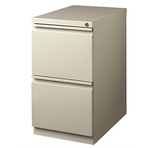 Hirsh HL10000 Series 23'' Deep 2 Drawer Mobile Pedestal in Light Gray