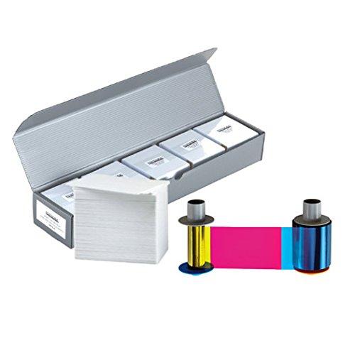Fargo 86200 YMCKO Color Ribbon + 500 PVC Cards