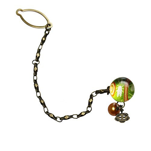 Tamarusan Tie Tack Pin Cicada Freshwater Pearl Green Tie Pin Tie Pin by TAMARUSAN