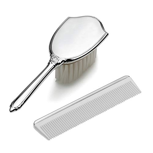 925 Sterling Silver Gift Boxed Girls Comb Brush Set Baby Fine Jewelry For Women Valentines Day Gifts For Her