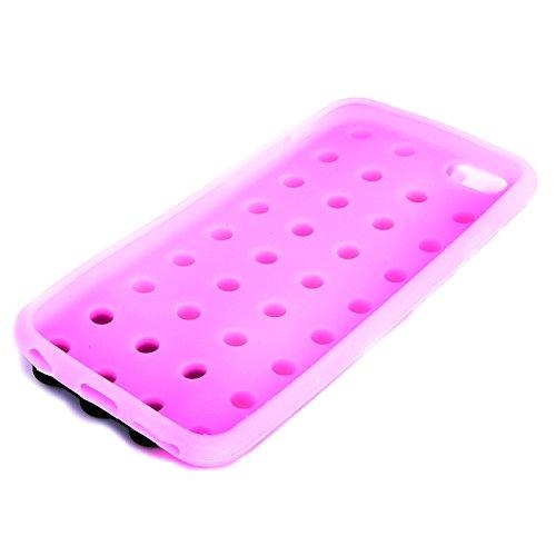Phone Taschen & Schalen Baustein Textur Silikon Tasche für iPhone 6 Plus & 6S Plus ( Color : Pink )