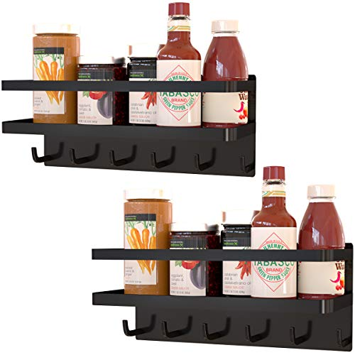 Magnetic Spice Rack For Refrigerator,Spice Storage For Fridge,Magnetic Shelf for Kitchen Organizer