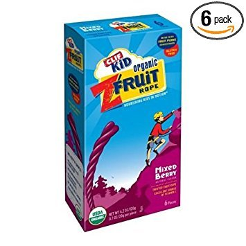Clif Kid Mixed Berry Zfruit Rope Snacks Bar, 0.7 Ounce - 6 per pack -- 6 packs per case.