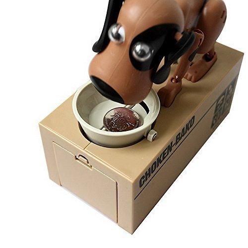 A-goo Choken Puppy Hungry Eating Dog Coin Bank Money Saving Box Piggy Bank