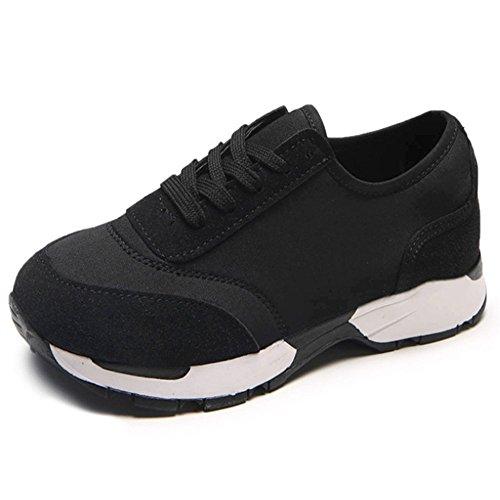 De Inferior Grueso Mujeres Zapatos Deporte Zapatillas Mujeres Cabeza De Deporte Zapatos Los Black De Redonda Tacón Zapatillas Las La De Zapatillas De De Las Manera Estudiantes Ocasionales De Deporte De De qcCZyqfr