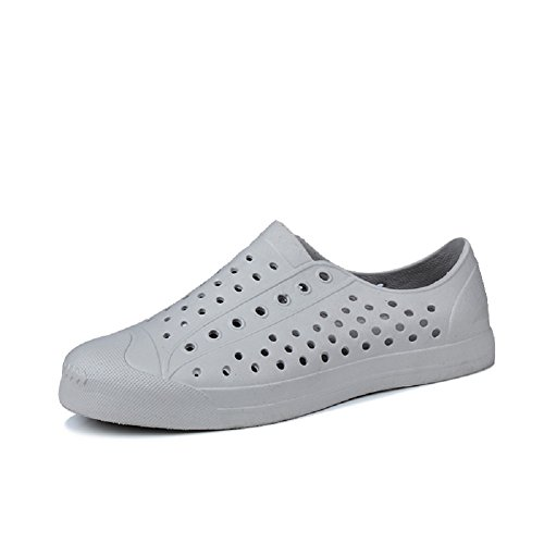 QISHENG Women's Men's Lightweight Fashion Walking Shoes Garden Clogs Shoes Slippers Sandals Gray