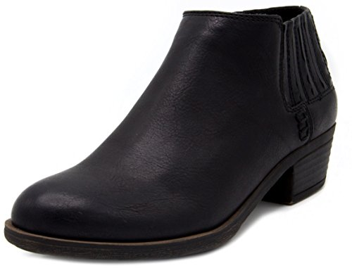 Sugar Casual Boots - Sugar Women's Tess Ankle Bootie 8 Black Smooth