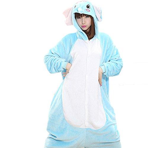 Blackdeer Unisex Adult Halloween Elephant Costume, Attractive Animal Onesie Designs -