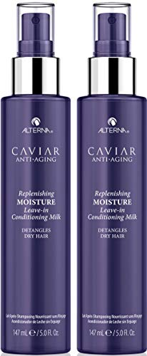 CAVIAR Anti-Aging Replenishing Moisture Leave-in Conditioning Milk, 5 oz (2 Pack) Alterna Leave In Conditioner