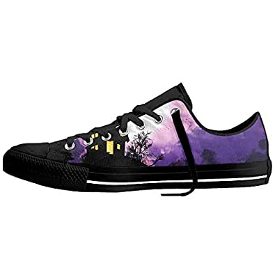 Halloween Low Top Sneakers Classic Unisex Antiskid Canvas Shoes Skate Shoe