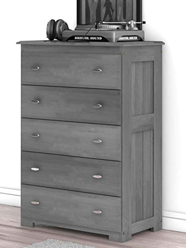 - Discovery World Furniture Charcoal 5 Drawer Chest