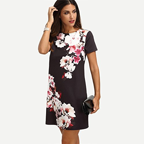 Carolina Dress Vestidos De Fiesta Sexys Cortos Casuales Ropa De Moda Para Mujer De Noche Elegantes Negros VE0040 at Amazon Womens Clothing store: