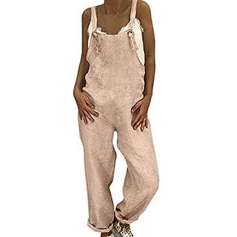 VECDY Monos Mujer Fiesta, Elegante Pantalones Largo Sin ...