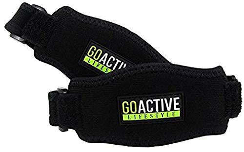 (Go Active Lifestyle Tennis Elbow Brace for Tendonitis (2-Count), Tennis & Golfer's Elbow Pain, Joint, and Tissue Relief with Compression Pad - Rheumatoid Arthritis Strap for Bursitis (One Size))