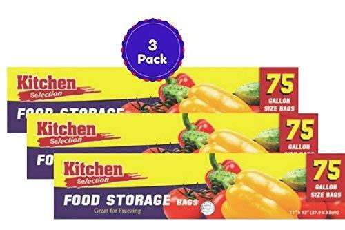 Food Storage Bags With Twist Ties 3 Pack 225 Bags Total