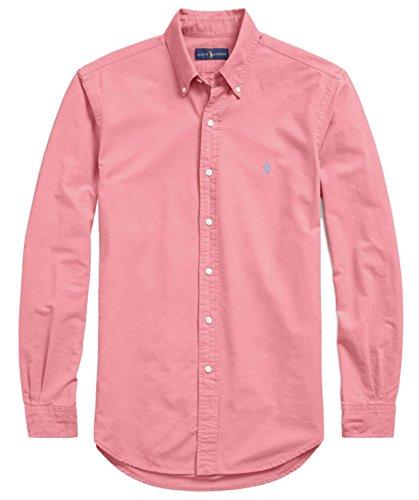 Ralph Lauren Polo Sport (Polo Ralph Lauren Mens Stretch Oxford Slim Fit Sport Shirt, HynsRed L)