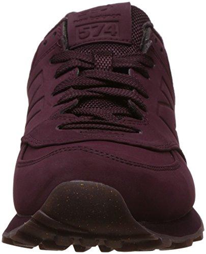 New Entrainement Balance Running Chaussures Burgundy 574 Violet de Femme apOqax