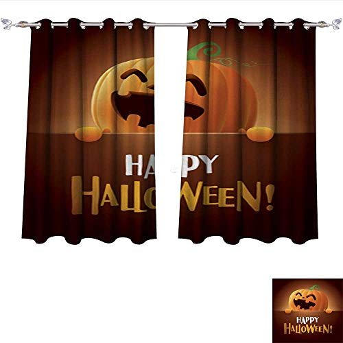 Sturbridge 6 Light (Blackout Draperies Happy Halloween!6 Blackout Draperies for Bedroom Kitchen W55 x L45/Pair)