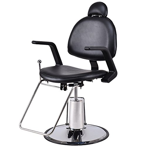 Giantex Barber Chair Reclining Position Hydraulic Styling Salon Beauty Spa Shampoo Equipment by Giantex