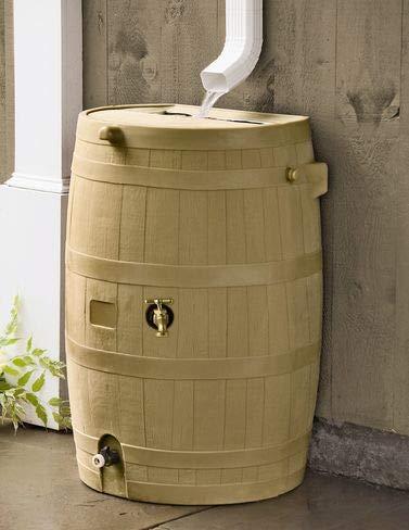 - Gardener's Supply Company Flat-Back Rain Barrel, Oak