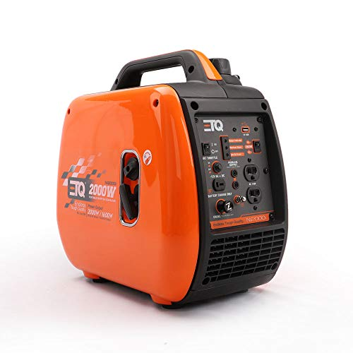 ETQ NI2000i Tough Quality 2000-Watt Portable Inverter Generator – Extremely Quiet – CARB Compliant