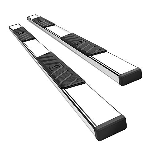 Tyger Auto TG-RS5T50177 Riser 5inch Stainless Steel Side Step Rails Nerf Bars Running Boards Compatible with 2007-2019 Toyota Tundra Crew ()