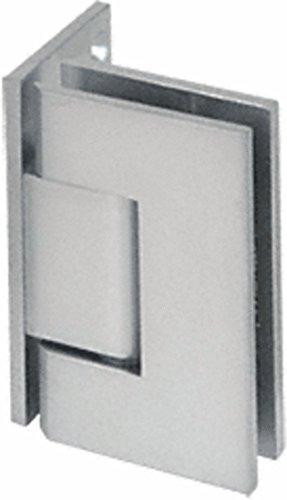 (C.R. LAURENCE V1E044SC CRL Satin Chrome Vienna 044 Series Wall Mount Offset Back Plate Hinge)