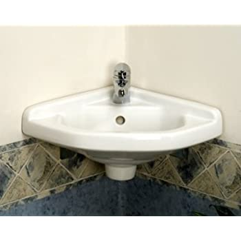 This Item White Corner Wall Hung Bathroom Sink