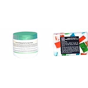 Absolute Beauty De-Tan and Clear Dark Marks Removal Fairness and Brightening Skin Care Cream, 100 g with Red Sandal Soap…