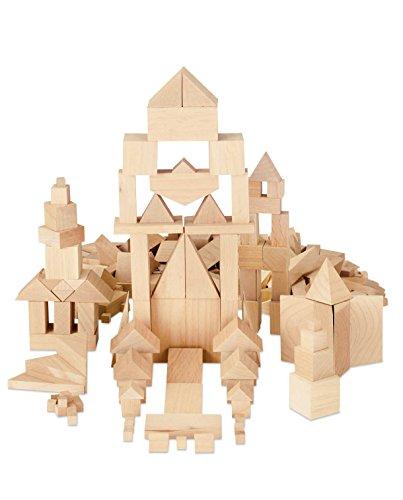 hand2mind Natural Wood Building Blocks (Set of 330)
