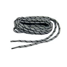 Heavy Duty Kevlar Reinforced Boot Laces Shoelaces (Grey W/ Black) 2 pair pack