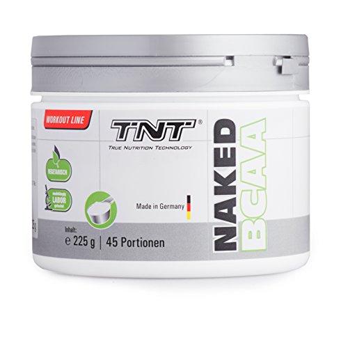 TNT Naked BCAA (Instant) - Vegane BCAA Aminos 2:1:1 (Leucin, Isoleucin & Valin) │ Aminosäuren Vegan für Muskelaufbau / 225g Dose BCAA Pulver