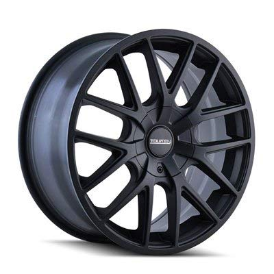 TOUREN TR60 Wheel with Full Matte Black (17 x 7.5 inches /5 x 72 mm, 42 mm Offset ()