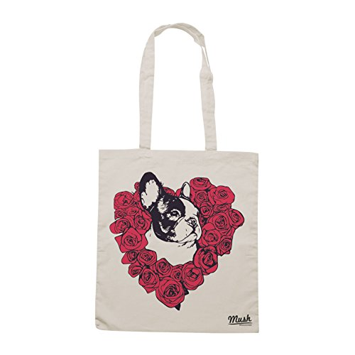 Borsa FRENCH BULLDOG LOVERS ROSE - Sand - MUSH by Mush Dress Your Style