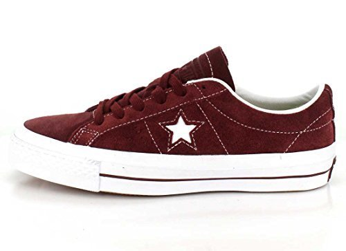 Converse Unisex One Star Pro Low Top Deep Bordeoux Sneaker - 9.5 Men - 11.5 Women