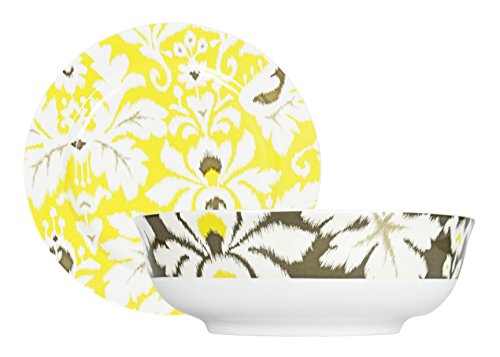 Echo Odyssey Design Matching Bowl and Serving Platter Set - Use for Serving Finger-foods, Dip and More! Perfect for Classy Parties!