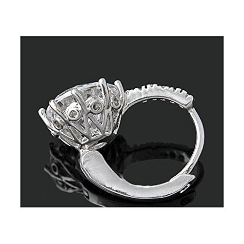 Boucles d'oreilles anneaux plaqué or blanc zirconium