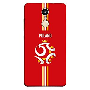 ColorKing Xiaomi Redmi 5 Football Red Case shell cover - Fifa Poland 02