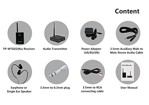 TP-WIRELESS 2.4GHz Professional In-ear Digital Wireless Stage audio Monitor System (1 Transmitter and 2 Receivers) by TP-WIRELESS (Image #8)