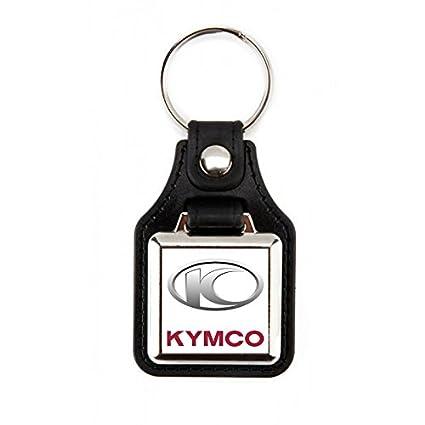Llavero Kymco| Llavero motos | Accesorios Kymco |Llavero elegante moto kymco| Llavero polipiel cuadrado para moto marca Kymco color rojo/blanco (1 ...