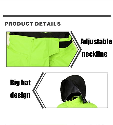 Rainstorm Raincoat Rain Pants Suit Adult Split Raincoat Moto Riding Raincoat Imperméable Épaississement Hommes (Color : L)