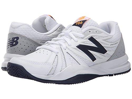 圧縮された酸っぱい驚くべき(ニューバランス) New Balance レディーステニスシューズ?スニーカー?靴 WC786v2 White/Blue 12 (29cm) D - Wide