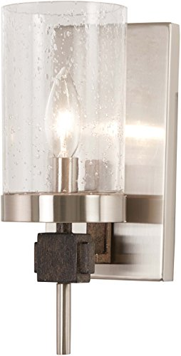 Minka Lavery Wall Sconce Lighting 4631-106 Bridlewood Wall Lamp Fixture, 1-Light 60 Watts, Stone Grey